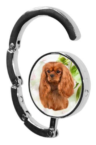 Cavalier King Charles Spaniel Dog Table Bag Handbag Hanger Hook-1 by paws2print