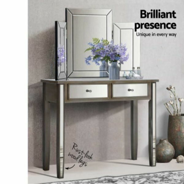 New Mirrored Furniture Dressing Console Hallway Hall Table Drawers Sideboard