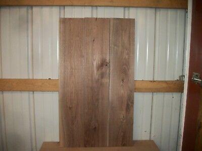"""3pc Rustic Walnut Lumber Wood Kiln Dried Boards 35 3/4""""x 6 7/8""""x 15/16"""" Lot 388z"""