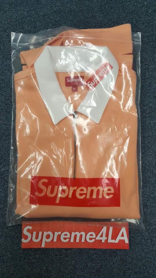 Supreme 17S/S Half Zip Rugby Peach autentico Size XL 1000% autentico Peach 60cc10