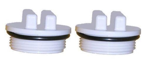 "TWO Hayward Pentair Pool Spa Filter Threaded Drain Plug 1.5/""  SP1022C 86202000"