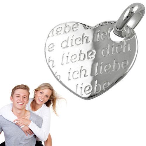 Las mujeres te quiero corazón remolque con grabado personal y cadena de plata 925