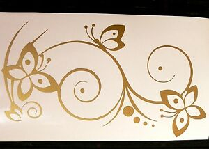 adesivo-fiore-farfalla-decal-sticker-butterfly-stilizzato-flower-decal-ornament