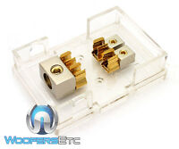 Phoenix Txbb2 Gold 0 Ga 4 Awg 2 Amp Fuse Speaker Sub Amplifer Distribution Block on Sale