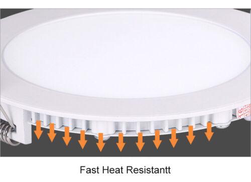 3W6W9W12W15W18W LED Panel Leuchte Deckenleuchte Einbaustrahler Weiß Ultraslim