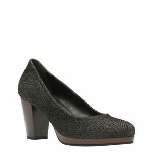 Details about Clarks Ladies Bismer Poppy Textured Brown leathe Shoes UK Size 6,7 D