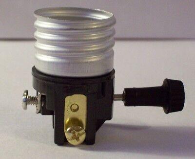 ON//OFF ~ Turn Knob ~ E26 Standard LAMP SOCKET ~ NEW INTERIOR /& INSULATOR
