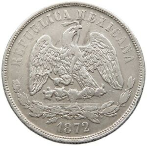 MEXICO PESO 1872 #t93 033