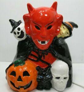 Halloween-Ceramic-Devil-Witch-Pumpkin-Ghost-Cat-Rat-Electric-Light-Up-Figure
