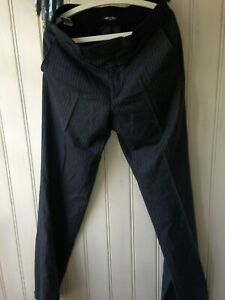 HOPE-amp-GLORY-Wool-Flat-front-Charcoal-amp-Striped-Tailored-Suit-Trousers-40R