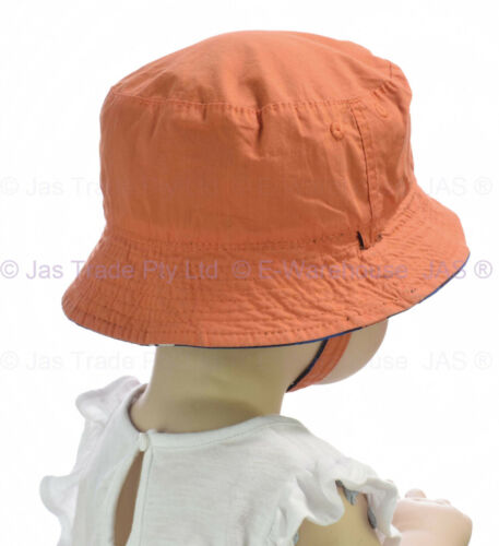 Girl Boy Toddler Baby Kids Bell Beach Outdoor Bucket Sun Cap Hat Chin Strap