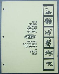 1982 riding mower service manual lawnflite mtd classic turf trac rh ebay co uk mtd yard machine riding mower owner's manual mtd riding mower repair manual