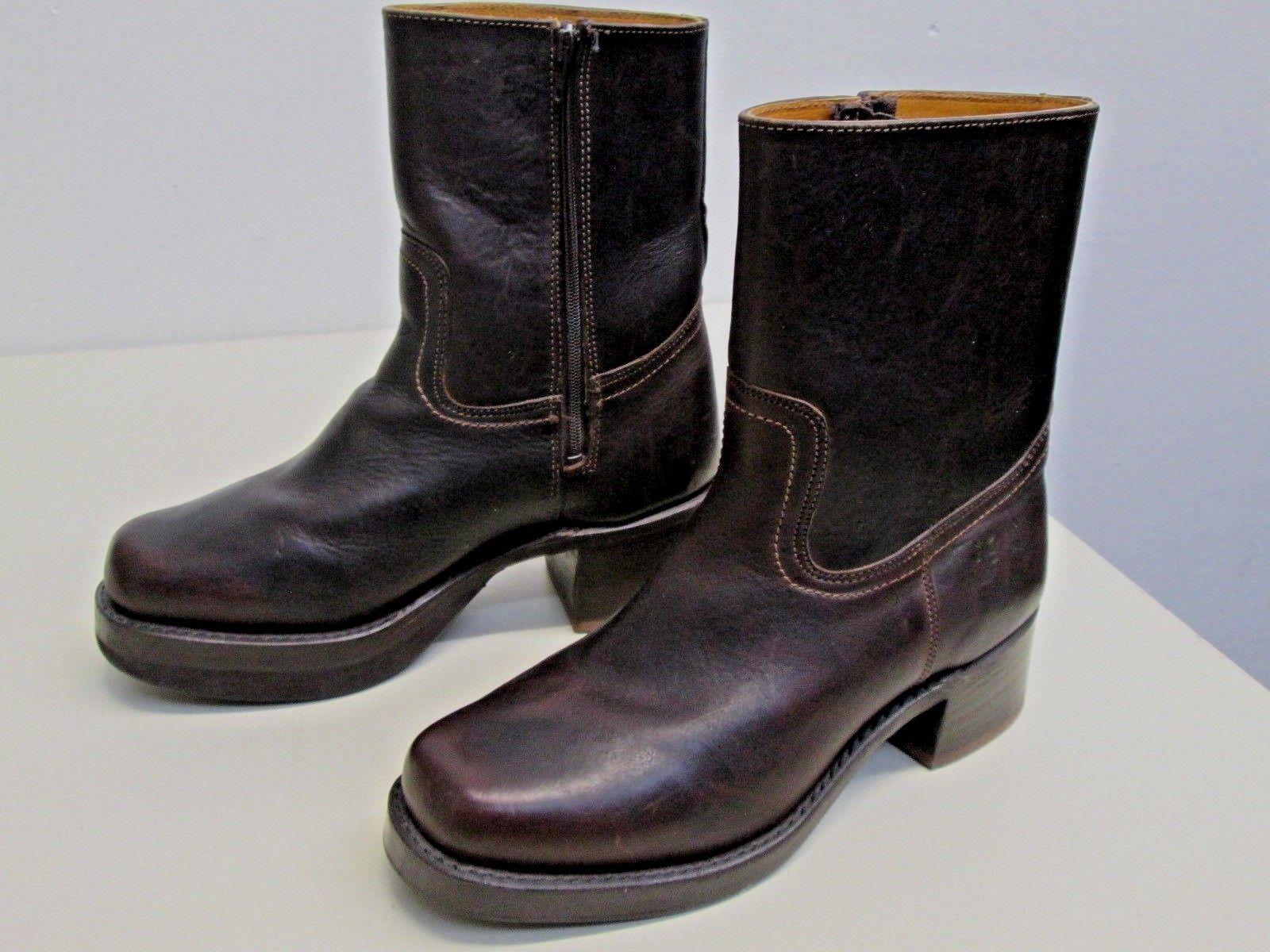 NWOB Frye Boots Short Campus side Zip size 7.5M 77235 Blazer Brown Excellent