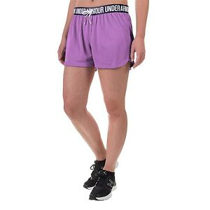 hot-selling fashion hot-selling discount top-rated latest Details about NWT~ WOMEN'S UNDER ARMOUR HEAT GEAR, PLAY UP MESH SHORTS.  VIOLET, 3 SIZES, CUTE