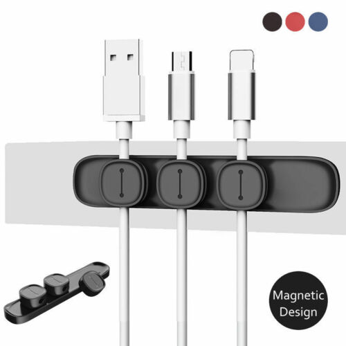 Baseus Magnetic Cable Clip Organizer Wire Cord Management Winder Line Holder Lwx