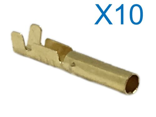 10 X 2.4MM ROUND BULLET TERMINAL CRIMP CONNECTION FOR ROUND PIEZO HT LEAD ENDS