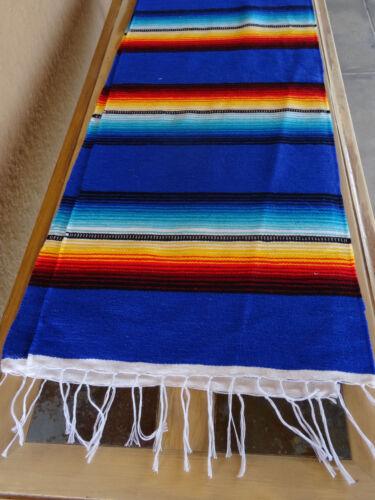 Serape Table Runner Blue-ONWSRun 13X72 Southwestern Southwest Mexican