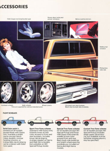 High classic 1987 GMC Truck S-15 20-page Original Car Sales Brochure Catalog
