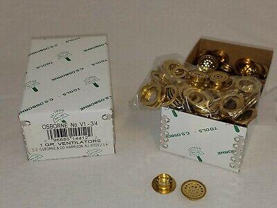 Osborne Brass Plain Rim Ventilators #V-1 C.S Size 3//4 144 Sets