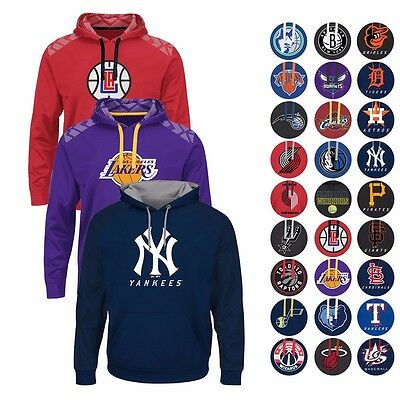 "NBA & MLB ""ARMOR"" Authentic Tonal Therma Base Team Hoodie Fleece by MAJESTIC Men"