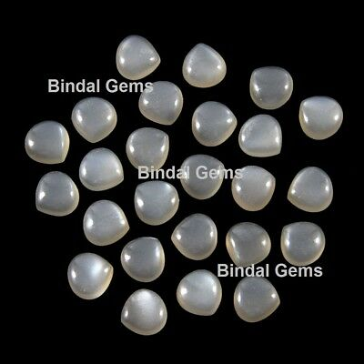 3X3 mm To 10X10m m Natural Grey Moonstone Round Cabochon Loose Gemstone Lot