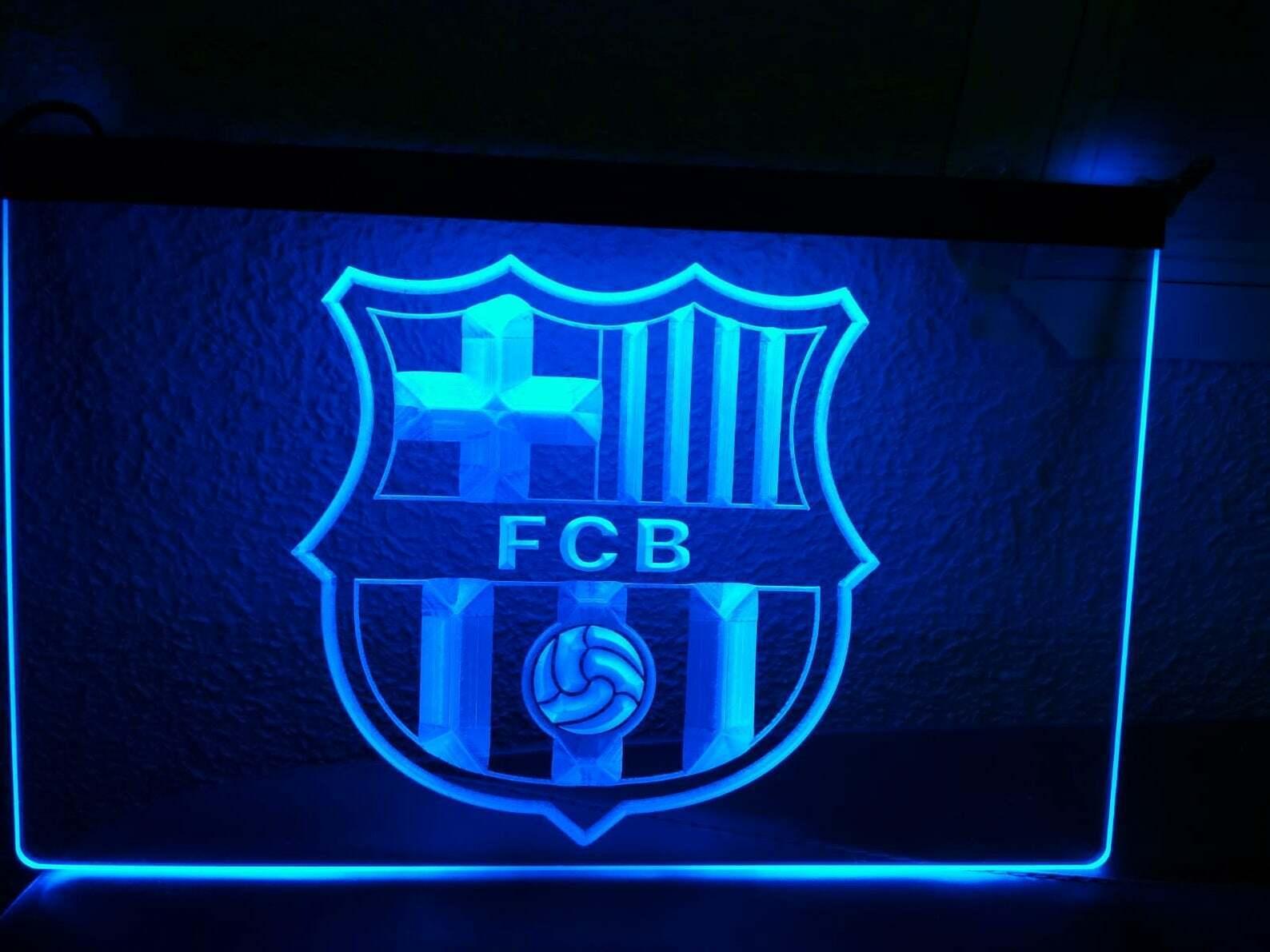 Barcelona FC Football LED Neon sign night Light Man Cave Decor Wall Car Logo rot