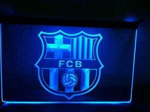 Barcelona Fc Football Led Neon Sign Night Light Man Cave Decor Wall Car Logo Red Ebay