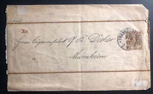 1891-Frankfurt-Germany-Postal-Stationary-Cover-To-Mannheim