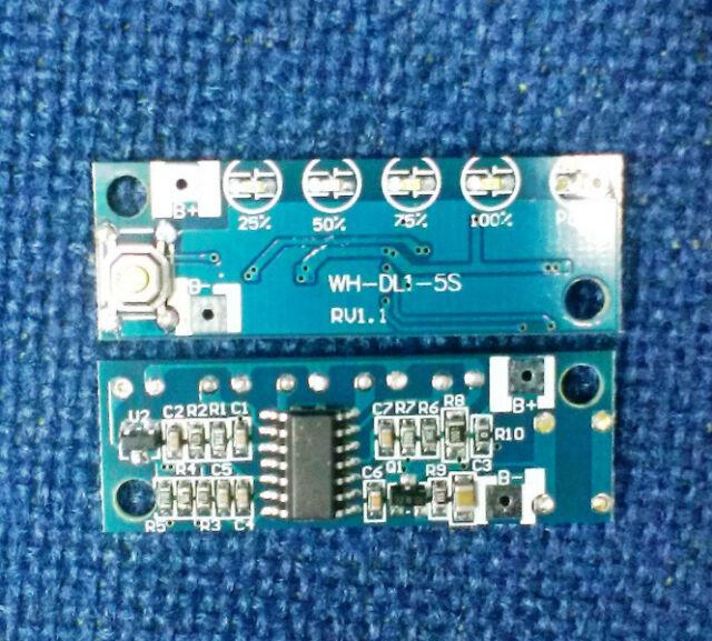 Li-ion Battery Capacity Indicator Measurement Board Single pack Cell 3.7V 4.2V