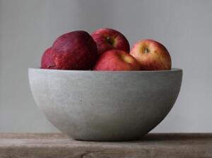 Concrete-Fruit-Bowl-10-034-Handmade-Modern-Home-Decor-Fruit-Basket-Decoration-Gray