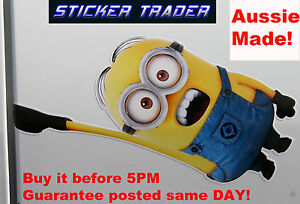 MINION-Hanging-JDM-HOON-Sticker-Despicable-Me-Family-DVD-Decal-Car-Wall-Window