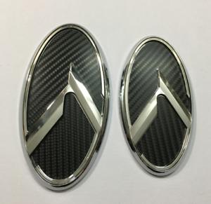 2pcs New 3D black K logo badge emblem fit KIA OPTIMA K5 2011-2018