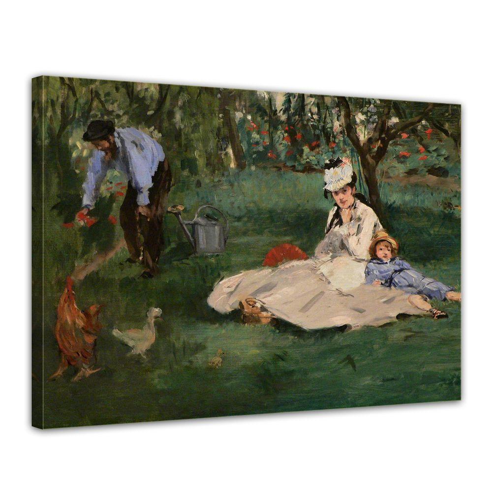 Stampa D'ARTE-Maestri-Édouard Manet-la famiglia Monet nel vostro giardino in