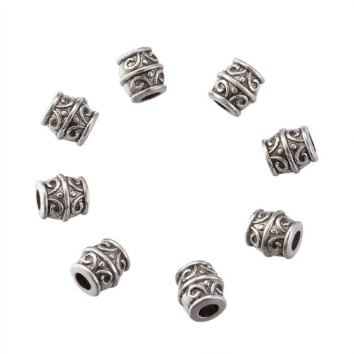 20pcs Tibetan Silver Tonneau Métal Perles Nickel Libre loose Entretoises Findings 8 mm