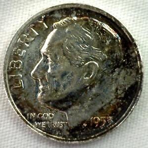 1953-Argent-Preuve-Roosevelt-Dime-Dix-Centimes-Piece-de-Monnaie-10c-Tons-Pf-UNC