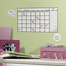 DrY eRaSe Monthly CALENDAR 7 BiG Wall Stickers Home Office Decals Dorm College