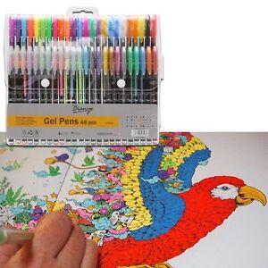 Metallic Gold Silver Gel Pens Kids Adult Art Draw Craft School Office Stationery