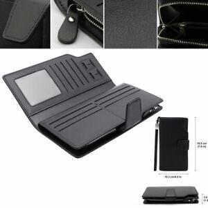 Business-Men-039-s-Leather-Wallets-Handbag-Money-ID-Credit-Card-Holder-Black-7-6-034-x4-034