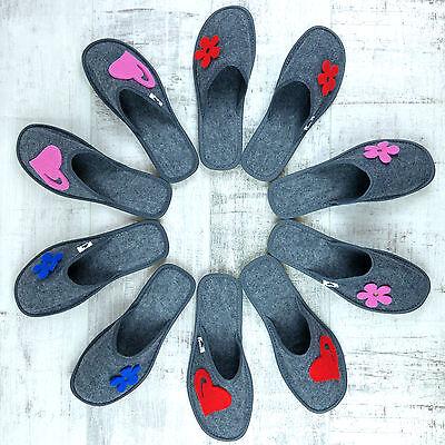 Nuevas señoras para mujer Chicas Moderno Antideslizante En Fieltro Ligero Zapatillas Tamaño 4 5 6 7 8
