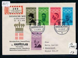 10213) Spécial R-ticket De Düsseldorf Danois Semaine Sou Sst 23.5.70 Jeu Jeux Olympiques-afficher Le Titre D'origine