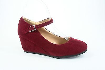 NEW Fashion Round Toe Strap Low Platform Wedge Heel Women's Shoes Size 5 - 10