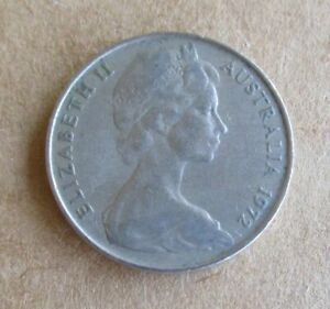 AUSTRALIAN-1972-10-CENT-COIN-LOWER-MINTAGE-YEAR