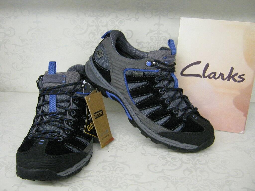 Clarks invalidar Cordones LO GTX Ante Negro Cordones invalidar Zapatos Para Andar 083947