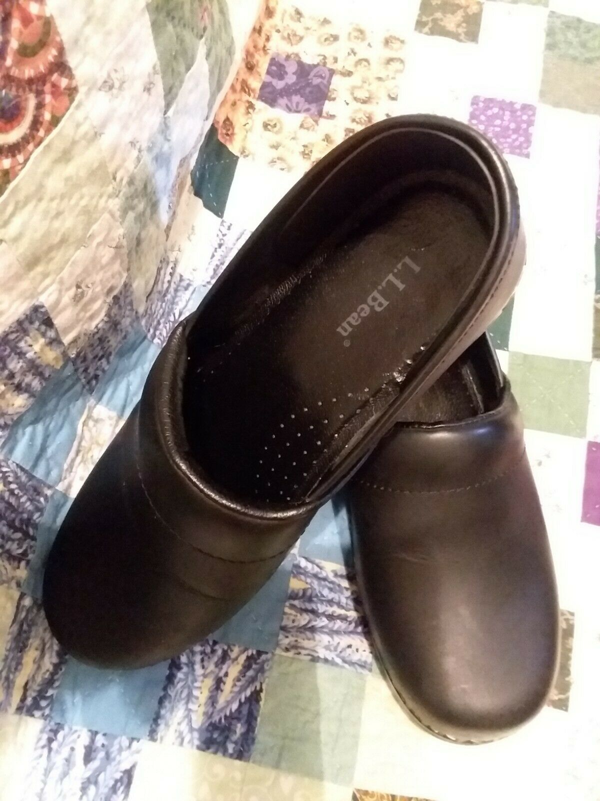 Nursing shoes Black excellent condition slightly used LL Beans 38 size 7