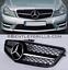 Mercedes-Clase-C-Grille-W204-Grill-C63-Look-AMG-Rejilla-Negro-y-Cromo miniatura 1