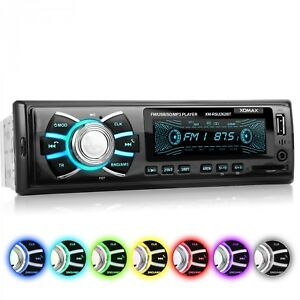 AUTORADIO-CON-7-COLORI-BLUETOOTH-VIVAVOCE-USB-SD-AUX-MP3-SINGOLO-1DIN-SENZA-CD