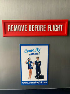 REMOVE-BEFORE-FLIGHT-als-Kuehlschrank-Magnet-11-5x3cm-3D-Optik