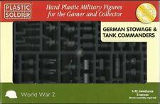 WW2V20021 20MM GERMAN STOWAGE AND TANK COMMANDERS PLASTIC SOLDIER COMPANY - WW2