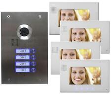 Casa di famiglia 4 Video Citofono Interfono 4 Schermo 7 Pollici
