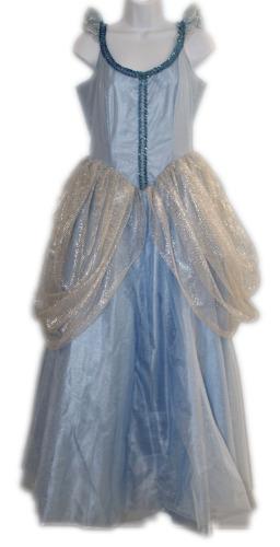 Women's Medium Blue Ball Gown Princess Cinderella